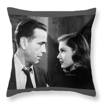 Lauren Bacall Humphrey Bogart Film Noir Classic The Big Sleep 2 1945-2015 Throw Pillow
