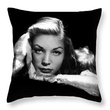 Lauren Bacall Publicity Photo Circa 1945-2015 Throw Pillow