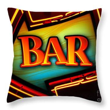 Laurettes Bar Throw Pillow by Barbara Teller