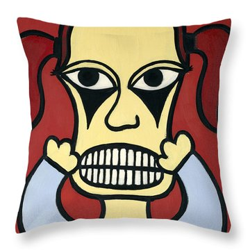 Laurie Throw Pillow by Thomas Valentine