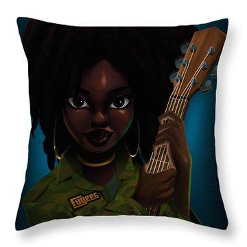 Lauryn Hill Throw Pillow