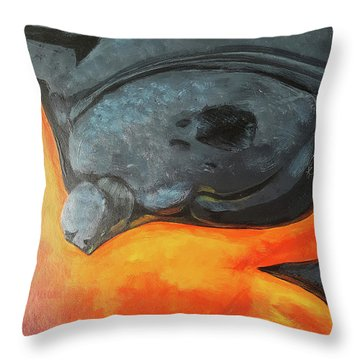 Lava 1 Throw Pillow