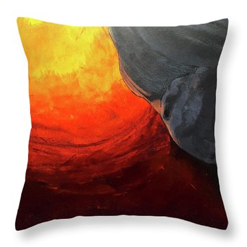 Lava 2 Throw Pillow