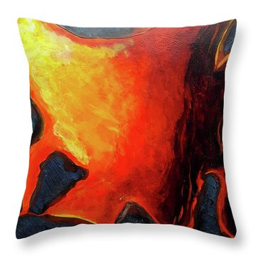 Lava 3 Throw Pillow