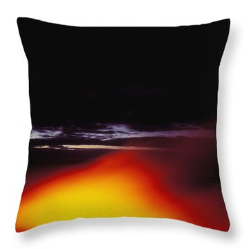 Lava And Moon Throw Pillow by William Waterfall - Printscapes