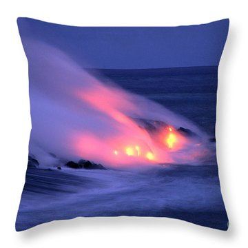Lava And Pink Smoke Throw Pillow by William Waterfall - Printscapes