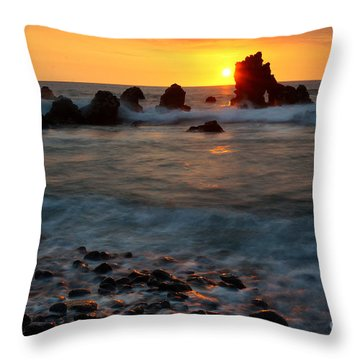 Throw Pillow featuring the photograph Lava Coast by Aaron Whittemore