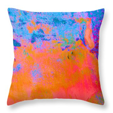 Lava Explosion Throw Pillow by Jan Amiss Photography
