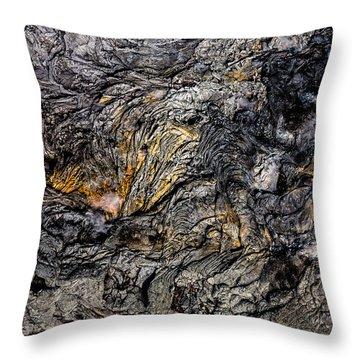 Throw Pillow featuring the photograph Lava by M G Whittingham