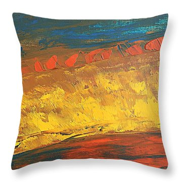 Lava Flow Throw Pillow