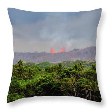 Lava Fountain Throw Pillow