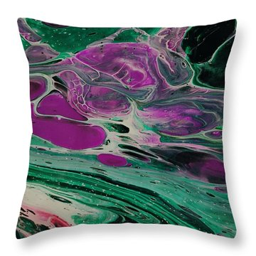 Lava From Venus Throw Pillow