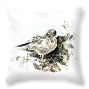 Lava Gull Throw Pillow