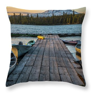 Lava Lake Evening  Throw Pillow
