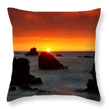 Lava Light Throw Pillow by Aaron Whittemore