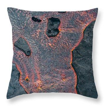 Lava River Texture Throw Pillow