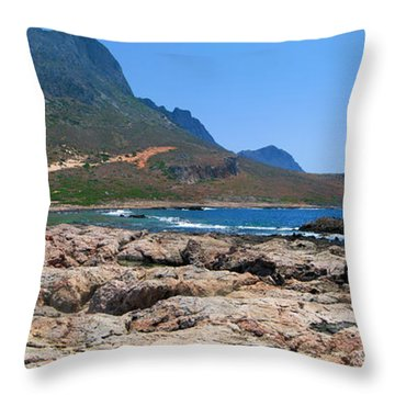 Lava Rocks Of Balos Throw Pillow