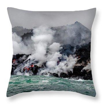 Lava Shelf Throw Pillow