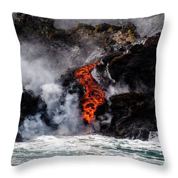 Lava Snake Throw Pillow
