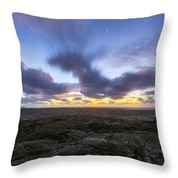 Throw Pillow featuring the photograph Lava Twilight by Ryan Manuel