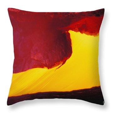 Lava Window Throw Pillow by Erik Aeder - Printscapes