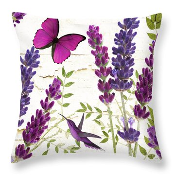 Lavande II Throw Pillow