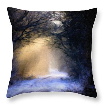 Lavander Snow  Throw Pillow