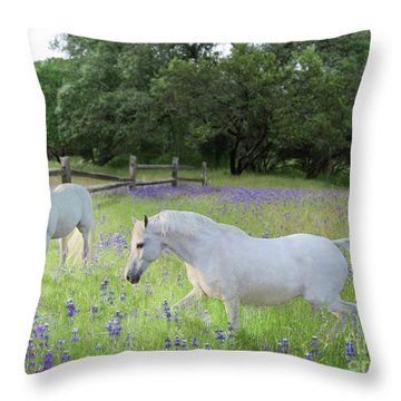 Lavender Pastures Throw Pillow