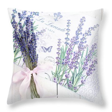 Throw Pillow featuring the photograph Lavende by Rebecca Cozart