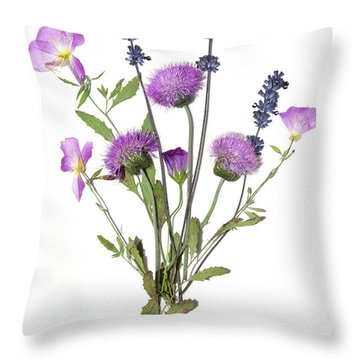 Lavender And Blue Throw Pillow