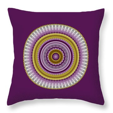 Lavender And Gold Lace Throw Pillow