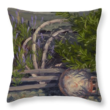 Lavender And Lobster Throw Pillow