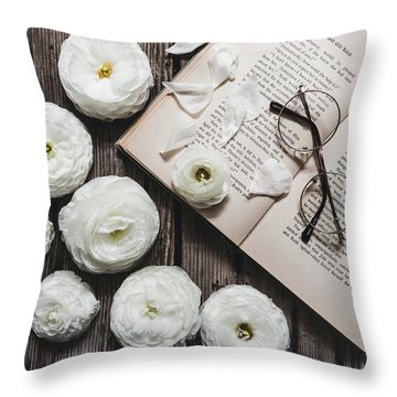 Throw Pillow featuring the photograph Lavender And Old Lace by Kim Hojnacki