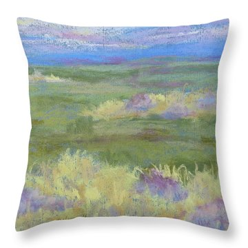Lavender And Wheat Throw Pillow