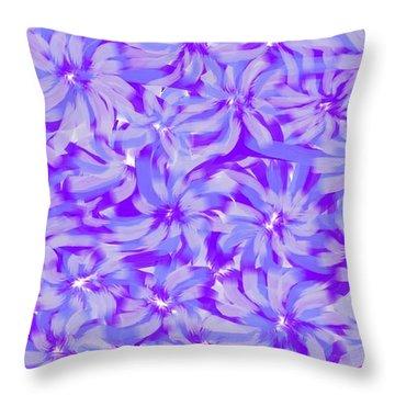 Lavender Blue 1 Throw Pillow