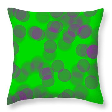 Lavender Bokeh Throw Pillow