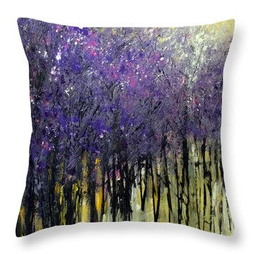 Lavender Dreams Throw Pillow by Priti Lathia