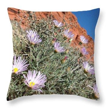 Lavender Drops Throw Pillow