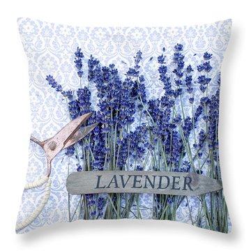 Throw Pillow featuring the photograph Lavender Garden by Rebecca Cozart