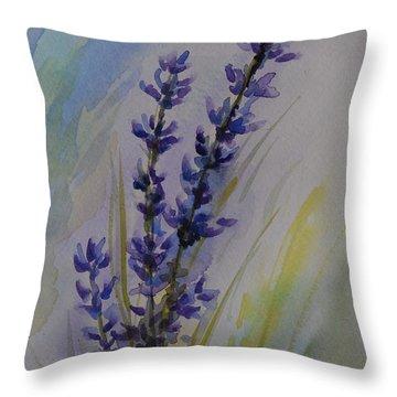 Lavender Throw Pillow by Gretchen Bjornson