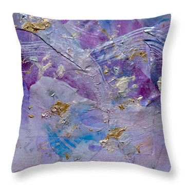 Lavender Haze Throw Pillow by Don  Wright