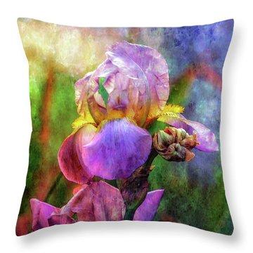 Lavender Iris Impression 0056 Idp_2 Throw Pillow