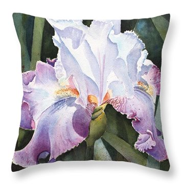 Lavender Light Throw Pillow by Kathy Nesseth