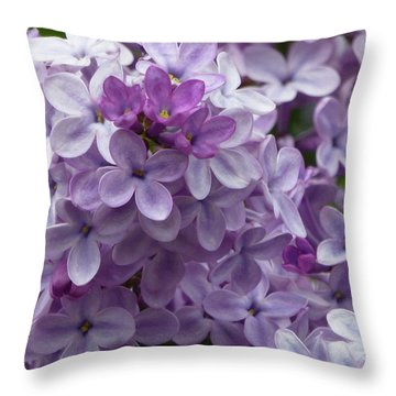 Lavender Lilacs Throw Pillow