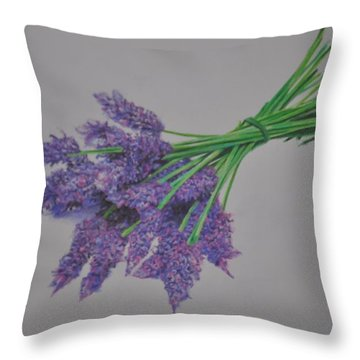 Lavender Throw Pillow by Linda Ferreira