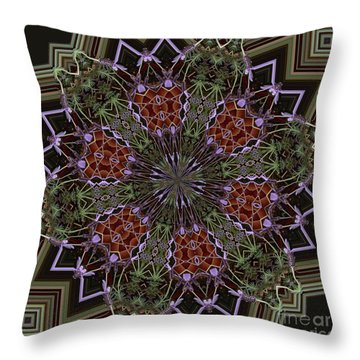 Lavender Mandala 1 Throw Pillow