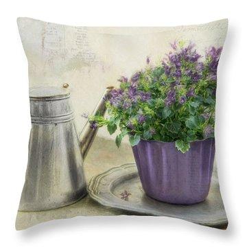 Lavender Morning Throw Pillow