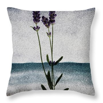 Lavender Ocean Breath Throw Pillow