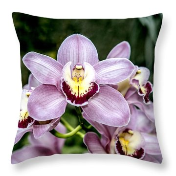 Lavender Orchid Throw Pillow