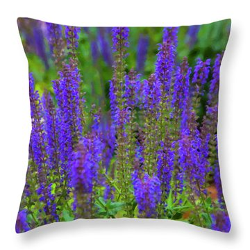 Throw Pillow featuring the digital art Lavender Patch by Chris Flees